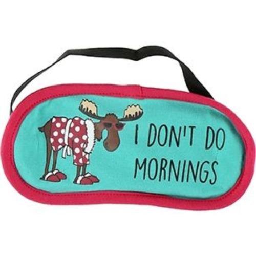 Don't Do Mornings Moose Sleep Mask | LazyOne®